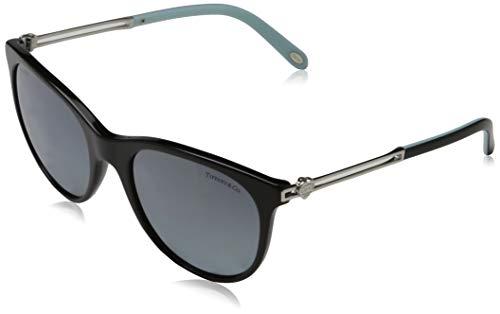 Tiffany & Co. Damen 0TY4139 80014Y 55 Sonnenbrille, Schwarz (Black/Polarmirrorgradientbluee)