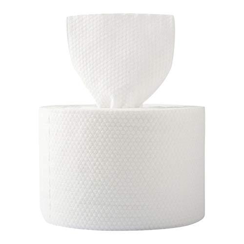 Minkissy - 40 pañuelos desechables para rostro de algodón, pañuelo de bolsillo, toallitas secas y húmedas, toallitas de limpieza, toalla, limpiador de maquillaje, para viajes en casa al aire libre