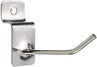Haak 25 x Slatwall Single Hook Pin Shop Display Montage Prong Hanger Nagel haken (Color : 50mm)