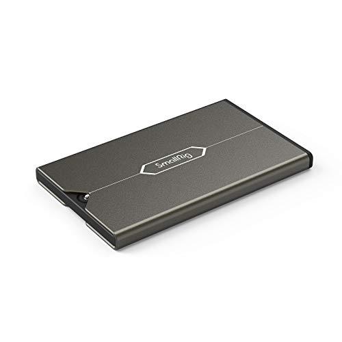 SMALLRIG Porta Tarjetas SD con 6 Ranuras para Tarjetas de Memoria, Estuche de Almacenamiento para 3 Tarjetero SD + 2 Tarjetero Micro-SD + 1 Tarjetero SIM - 2832