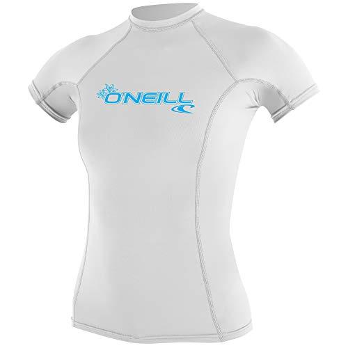 O Neill Wetsuits Basic Skins - Camiseta de Manga Corta para Mujer (Talla S), Color Blanco