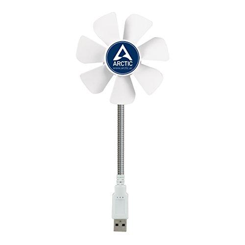 ARCTIC Breeze Mobile - Mini USB Desktop Fan with Flexible Neck I Portable Desk Fan for Home, Office I Silent USB Fan I Fan Speed 1700 RPM - White