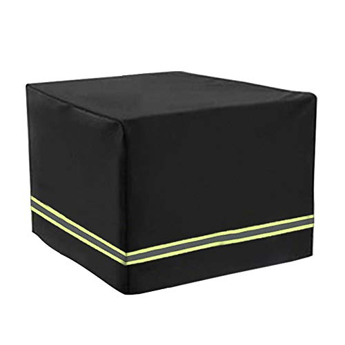 Protective Cover for Garden Furniture, Waterproof, Breathable, Oxford Fabric, Garden Table Cover, Rectangular, Black (126*126*74CM)