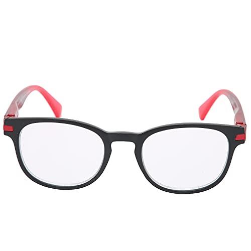 Gafas de lectura, hombres mujeres elegantes gafas presbiópicas ancianos portátiles simples para leer, compañero de lectura de calidad, gafas de lectura vintage(50-54 +150)