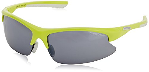 ALPINA Brille Dribs 2.0, Fassung: Lime-White Gläser: Black Mirror S3