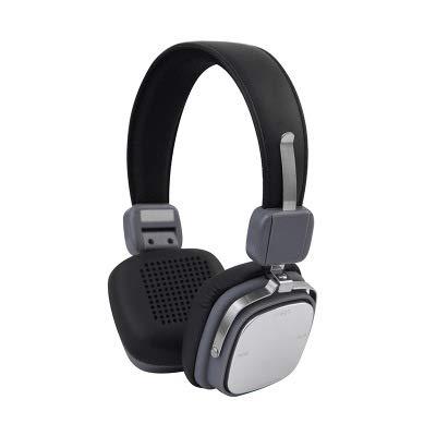 DIDIOI Wireless-Kopfhörer, Bluetooth Kopfhörer-Sport-Metall-Bass-Stereo-Funkkopfhörer mit Mic für Xiaomi Phone Reisen,Silvergrey