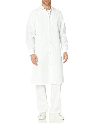 Red Kap Men's Gripper Front Spun Polyester Pocketless Butcher Coat With Knit Cuffs, White, 2X-Large