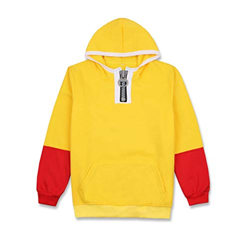 Gumstyle Anime One Punch Man Hoodie Sweatshirt Adult Cosplay Pullover Jacket 1-L Yellow