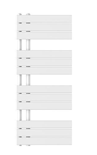EISL BHKWZ51 Badheizkörper, Handtuchwärmer, Handtuchheizkörper, Seitenanschluss, 120 x 50 cm, 610W, Weiß