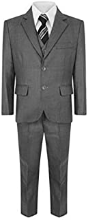 Samli Boys 5 Piece Wedding Party Page Boy Christening Formal Smart Grey Suit 1Y-15Year