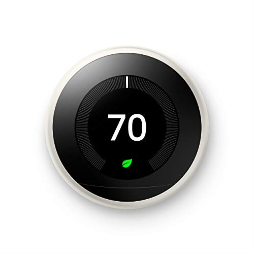 Google Nest Learning Thermostat - Programmable Smart Thermostat for Home - 3rd Generation Nest Thermostat - Works with Alexa - White