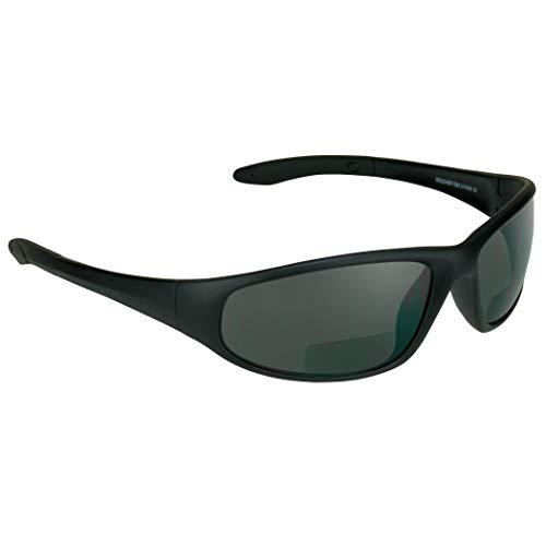 proSPORT Bifocal Sunglasses for Men Women +2.50 Safety Readers Sport Dark Black