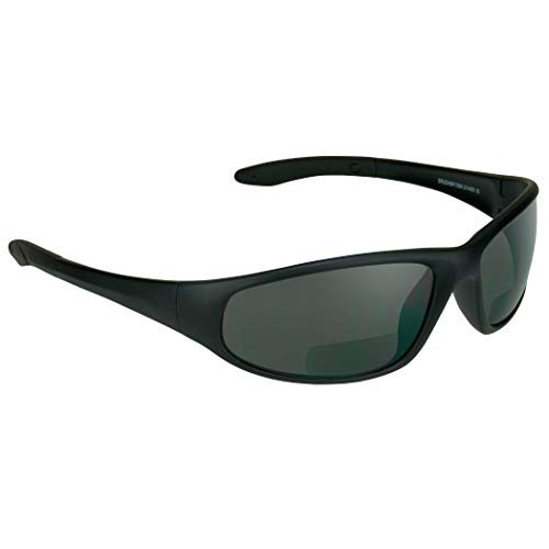 proSPORT Bifocal Sunglasses for Men Women +1.50 Safety Readers Sport Dark Black…