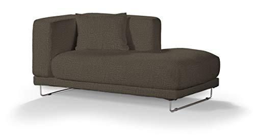 Dekoria Tylösand Recamiere rechts Sofabezug Sofahusse passend für IKEA Modell Nikkala beige-braun