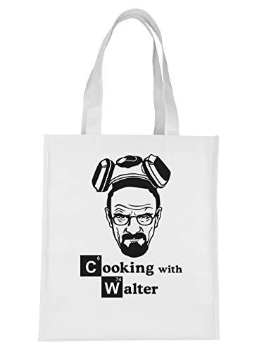 clothinx Stoff-Tasche Cooking with Walter Weiß