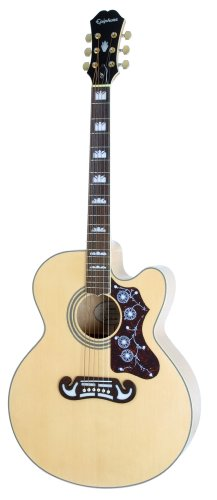 Epiphone EJ-200SCE Solid Top Cutaway  Acoustic /Electric Guitar, Natural