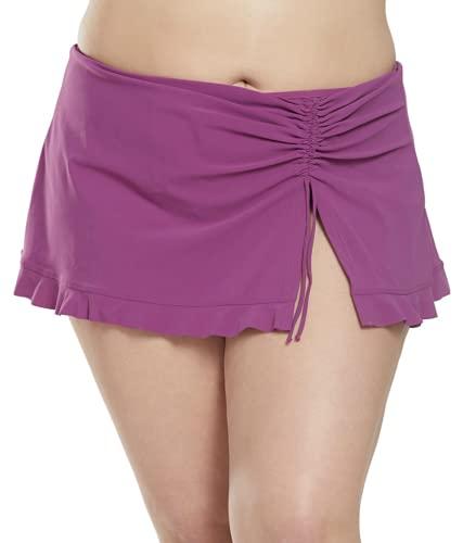 Profile by Gottex Women's Plus-Size Classic Side Tie Skirted Swimsuit Bottom, Tutti Frutti Plum, 20W
