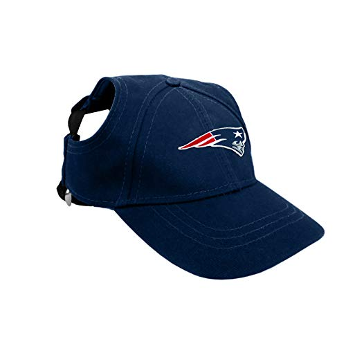 Littlearth NFL New England Patriots Pet Baseball Hat, XL, Team Color