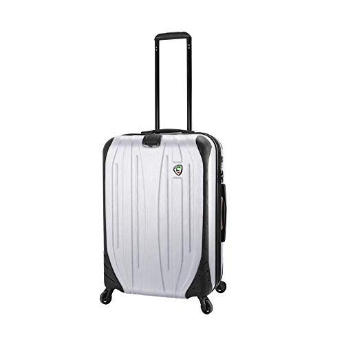 Mia Toro Italy Compaz Hard Side 24' Spinner Luggage, WHITE