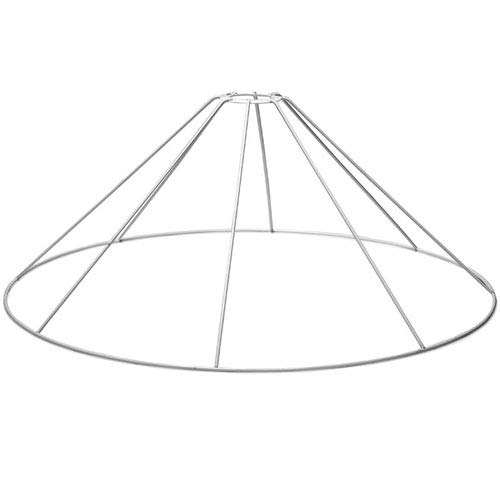 SMITS Estructura de lámpara plastificada, color blanco, diámetro inferior 50 cm, altura 21 cm.
