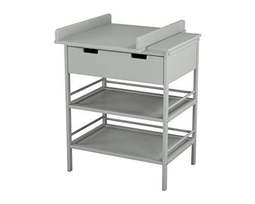 Ateliers T4 wikkelonderkast met plank en lade, gelakt, grijs