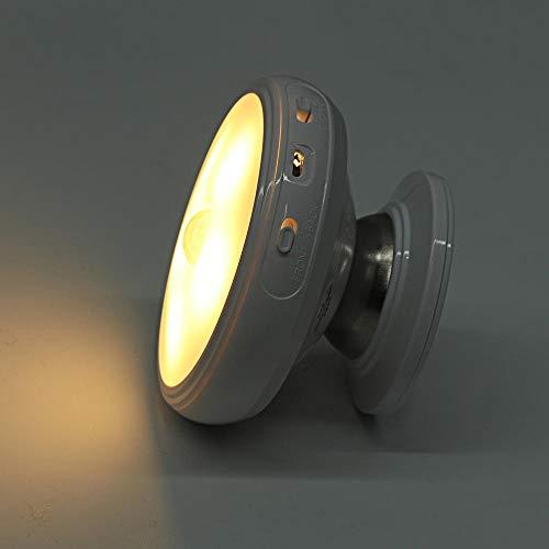 Luz de noche LED recargable giratoria de 360 grados,luz de sensor de movimiento de lámpara de pared de seguridad para luces de cocina de escalera de dormitorio