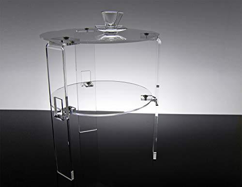 Slato Tavolino Basso da Salotto Design Moderno in plexiglass Trasparente Melitea