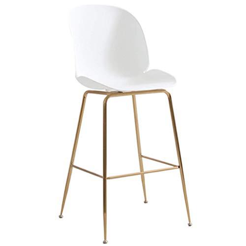 KFDQ Sillas de escritorio, sillas de bar Taburetes de bar Taburetes altos sin respaldo Barra de cocina de desayuno con reposapiés de metal dorado Ocio contemporáneo Carga máxima...