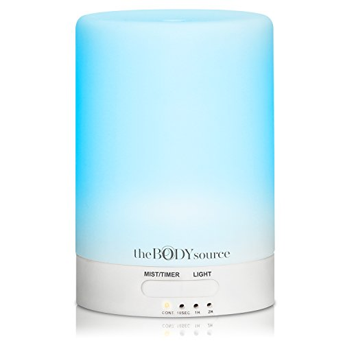Ultrasonic Aroma Diffuser and Humidifier with 7 Colour Changing LED Lights. Aromatherapy...