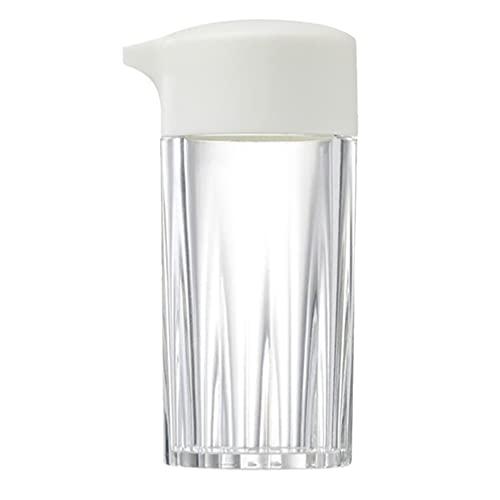Lurrose Frasco de Condimento de Vidrio Tarro de Condimento Olla de Aceite Dispensador de Vinagre Tarro de Miel Dispensador Contenedor Cocina Gadgets