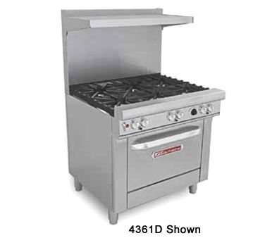 "Southbend 4361D-2TL 36"" Ultimate Restaurant Gas Range w/ 2 Non Clog Burners, 24"" Left Thermostatic Griddle & Standard Oven"