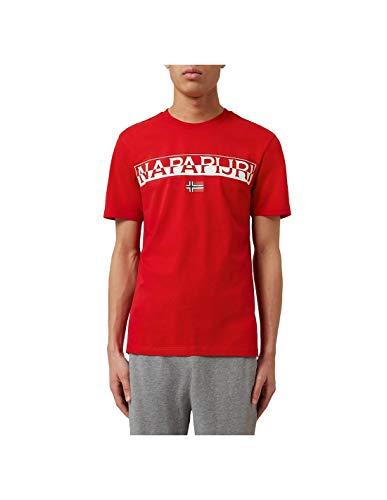 Napapijri Camiseta Saky L, Rojo