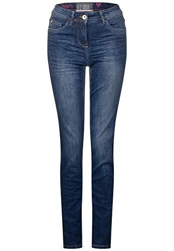 Cecil Damen 371968 Toronto Jeans, mid Blue Used wash, 31W / 32L