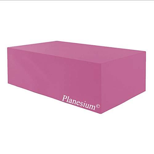 Planesium Housse de protection de qualité supérieure pour meubles de jardin - Housse de protection imperméable respirante et résistante aux déchirures - 575 g/mètre courant - 180 x 130 x 70 cm - Rose
