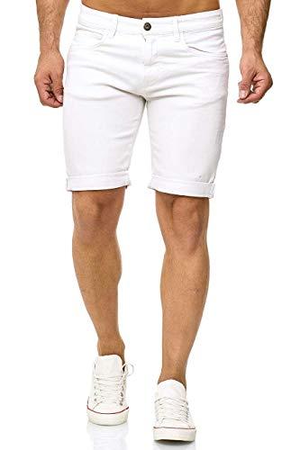 Indicode Kaden Pantalones cortos Denim, blanco roto, M