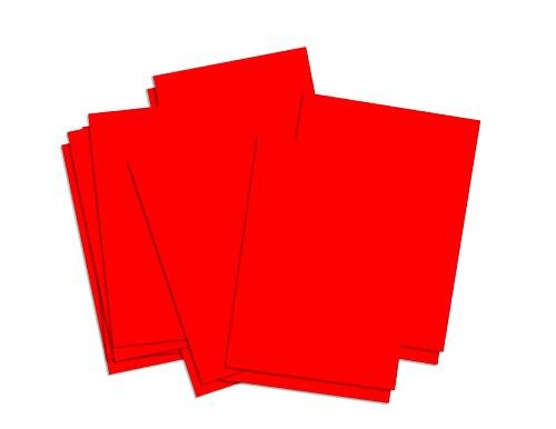 House of & Papier 220gsm A4Karte–Rot (25Stück Blatt)