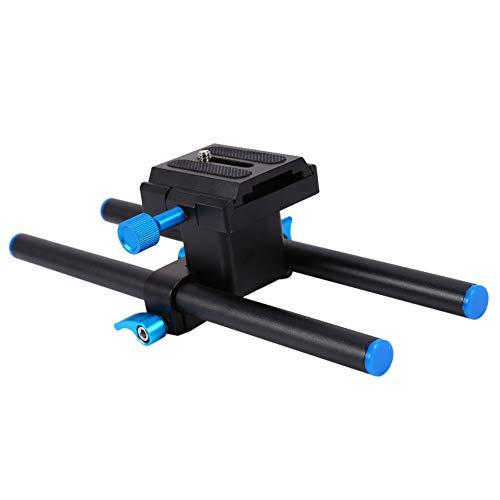 ROMACK con Soporte de Rosca de 1/4'Soporte de Barra de riel de Plataforma Resistente y Duradero, para conectar al trípode con Tornillo estándar de 1/4 '', Adecuado para Uso prolongado