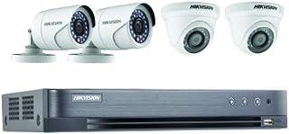 نظام كاميرات المراقبة فل اتش دي 1080 بكسل 4 قنوات من هيكفيجن - مسجل فيديو رقمي اتش 265 لايت بدقة 4 ميجابكسل (غير مرفق بقرص...