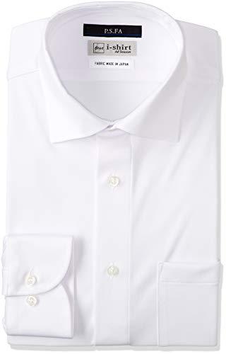 [アイシャツ] i-shirt 白無地 完全ノーアイロン ストレッチ 超速乾 長袖 アイシャツ ワイシャツ ホワイト メンズ 形態安定 無地 スリムフィット 長袖ワイドカラー M151180133 日本 L84(首回り41cm×裄丈84cm) (日本サイズL相当)