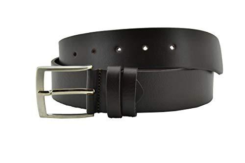 Conte Massimo Cintura Uomo In Cuoio, Senza Cuciture, Accorciabile alta 4cm Marrone Scuro 125 (taglia 54-56)