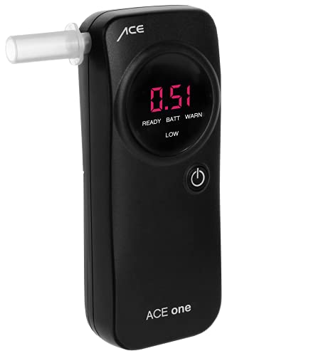 ACE One Alkoholtester Polizeigenau - Promille-Tester Alkomat mit 98,6{c2d06d933c197d5391768c1a6228a5291ad40c93099cc112883bd18e85a85f87}