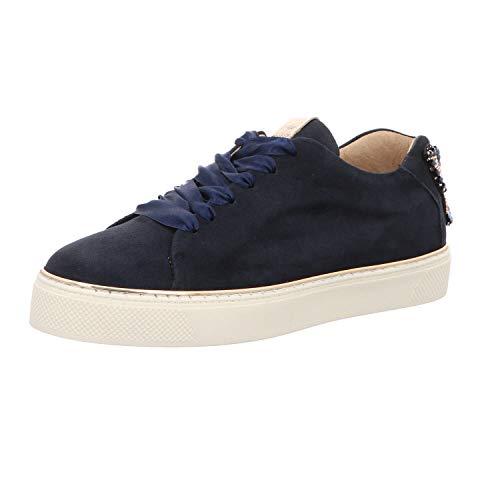 Alpe Megan - Sneaker Fabricado en Piel de Color Azul Marino - 37-35791228-37 -Ante (40 EU)