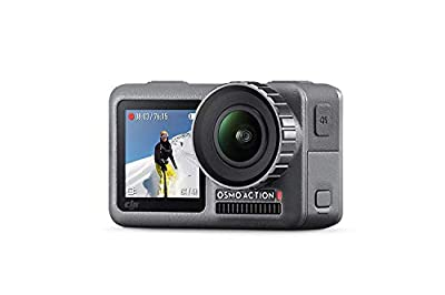 DJI OSMO Action Cam Digital Camera with 2 Displays 36FT/11M Waterproof 4K HDR-Video 12MP 145° Angle Black (Renewed) from DJI