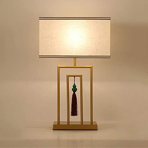 GANFANREN Diseño moderno de la lámpara de mesa LED Mesa de escritorio Tela ligera Decorativa casera para la sala de estar del dormitorio