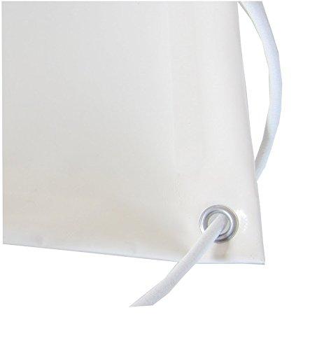 TUTTOPERGOLE Telo PVC Bianco 650 Grammi M2 Corda Bianco 8 mm