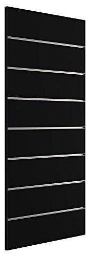 Ladeneinrichtung Lamellenwand Deko Wand Accessoire Aufhänger 600 x 1200 mm Dekor Schwarz