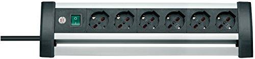 Brennenstuhl 1394005416 stopcontact Multipla Alu-Office-Line, 230 V