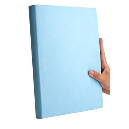 LICHUAN Cuaderno grande tamaño A4, simple Cornell, grande, para oficina, oficina, colegio, estudiante, dedicado a aumentar las notas de clase, diario de registros (color azul)