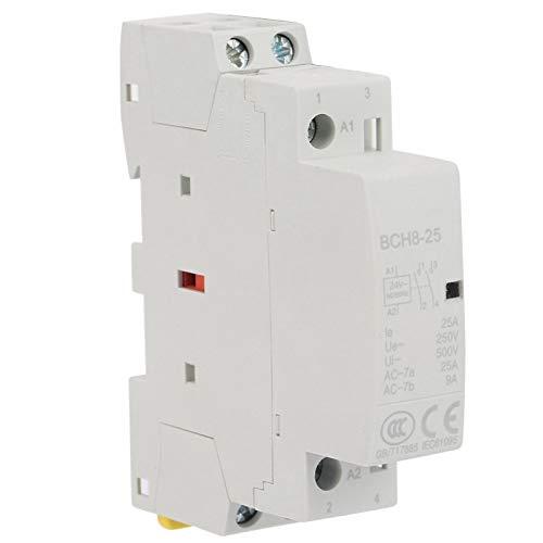Contactor 25A, 2P 25A 24V 2No 50 / 60Hz Contactor de CA de bajo ruido, ahorro de energía para ahorrar espacio de instalación Larga vida útil