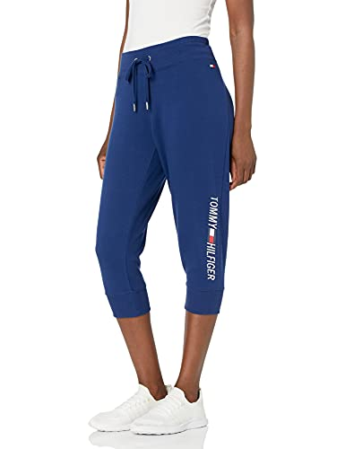 Tommy Hilfiger Women's Logo Jogger Pant, Deep Blue, X-Large